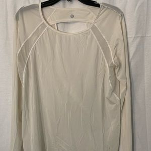 Lululemon athletic top sheer l/S with open back 2